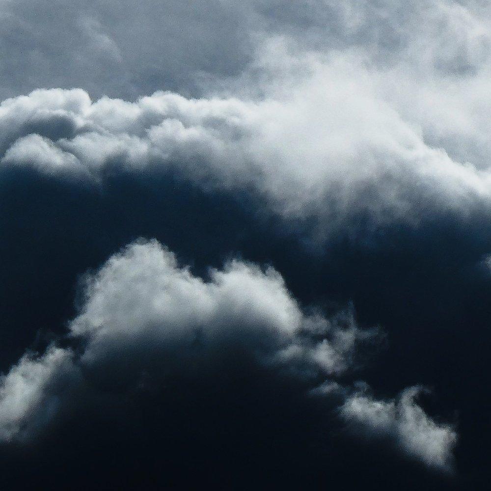 A very dark and stormy sky scene